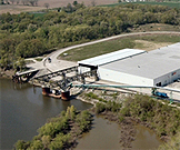 TMW's barge terminal and 'steel supercenter' on the Kaskaskia River
