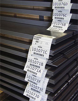 TMW prepares service center customer steel with branded paper, tags and codes